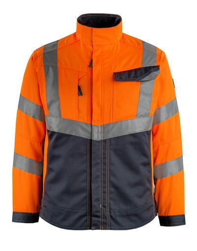 MASCOT® Oxford - hi-vis oranssi/tumma laivastonsininen - Takki, hyvä kulutuksenkestävyys, Luokka 2