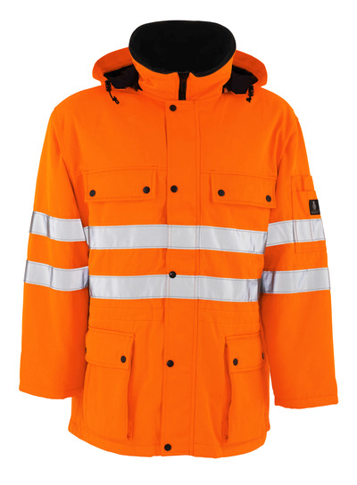 MASCOT® Quebec - hi-vis oranssi - Parkatakki tikkikangasvuorilla, vettähylkivä, Luokka 3/2