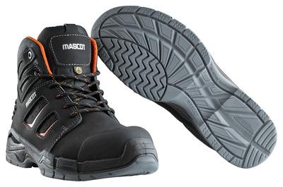 MASCOT® Rimo - musta/tummanoranssi - Turvasaappaat, S3, nauhalliset