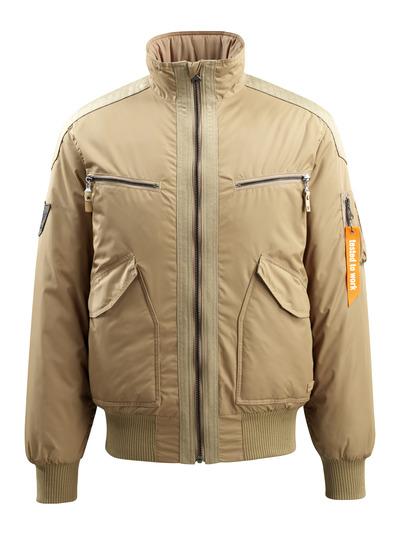 MASCOT® Riverdale - khaki - Pilottitakki tikkikangasvuorilla, vettähylkivä