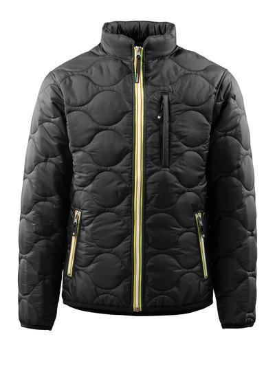 MASCOT® Rota - musta - Takki, vuorillinen, korkea kaulus