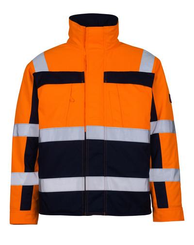 MASCOT® Timon - hi-vis oranssi/tummansininen* - Pilottitakki tikkikangasvuorilla, Luokka 3