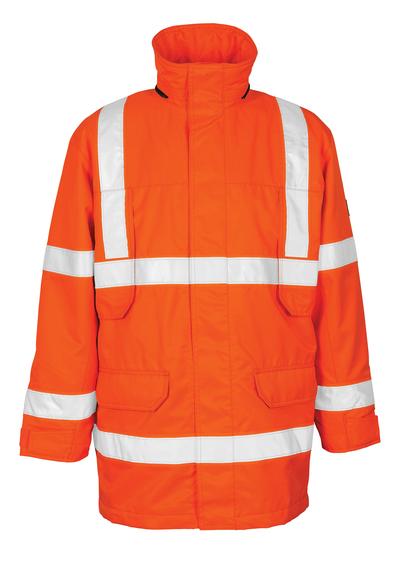 MASCOT® Vancouver - hi-vis oranssi - Parkatakki irrotettavalla tikkikangasvuorilla, vedenpitävä MASCOTEX®, Luokka 3