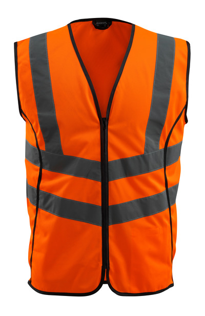 MASCOT® Wingate - hi-vis oranssi - Varoliivi vetoketjulla, Luokka 2